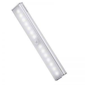 AVANTEK Réglette de 14 LEDs LE-003 Veilleuse à Détection de Mouvements à 3 Mètres, Lampe Applique 4 modes de Lumière Eclairage, 800 mAh Batterie Lithium Rechargeable 65 Lumens 6500K Blanc Froid de la marque AVANTEK image 0 produit