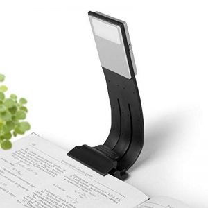 Ayotu Clip-On lampe de lecture LED Bras flexible Liseuse lumière avec USB rechargeable 4 étages de luminosité réglable livre lumières pour lecteurs de livres électroniques, tablette, iPad, Kobo, ordinateurs portables, etc. (Blanc froid) de la marque Ayotu image 0 produit