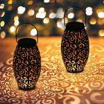 AYOUYA Led Lanterne Solaire Creuse Lumière Solaire Suspendue Luminaire Extérieur de Jardin Vintage en Métal Lumière de Paysage Étanche Lumière d'Ambiance Ovale pour Décoration de Parc Jardin Allée Terrasse Cour Patio de la marque AYOUYA image 3 produit
