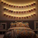 B.K. Licht guirlande lumineuse porte photos, guirlande porte photos avec pinces, guirlande 40 LEDs, luminare intérieur decoratif, 120 lm, IP20, longueur 5m de la marque B.K.Licht image 4 produit