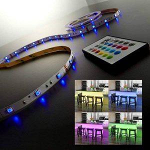 B.K. Licht ruban LED 5m, guirlande lumineuse, ruban adhésif lumière décorative blanche & multicolore, éclairage intérieur, IP20, 24W, longueur 5m de la marque B.K.Licht image 0 produit