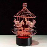 baby Q LED 3D Lampe, Lumière colorée de contact de carrousel, lumières de cadeau créatives, lumière d'alimentation d'USB de la marque baby Q image 1 produit