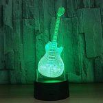 baby Q LED 3D Lampe, Lumières visuelles tactiles colorées de guitare, lampe acrylique de Tableau de gradient, lumière d'alimentation d'USB de la marque baby Q image 2 produit