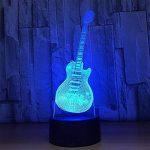 baby Q LED 3D Lampe, Lumières visuelles tactiles colorées de guitare, lampe acrylique de Tableau de gradient, lumière d'alimentation d'USB de la marque baby Q image 3 produit
