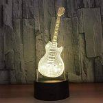 baby Q LED 3D Lampe, Lumières visuelles tactiles colorées de guitare, lampe acrylique de Tableau de gradient, lumière d'alimentation d'USB de la marque baby Q image 4 produit