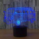 baby QLED 3D Lampe, Lumière créative de nuit, cadeau léger d'atmosphère de cadeau d'USB, lumières stéréo de vision de la marque baby Q image 3 produit