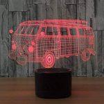 baby QLED 3D Lampe, Lumière créative de nuit, cadeau léger d'atmosphère de cadeau d'USB, lumières stéréo de vision de la marque baby Q image 4 produit