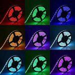 Bande LED 10M - GLAMSVILL 10M LED Ruban Bande 5050 RGB 300 leds IP65 Etanche Bandes LED Flexibles Kit avec 20 réglages de Couleurs Différents et 44 Modes Télécommande pour Décoration Eclairage Bar Restaurant Party Bed Kitchen de la marque image 1 produit