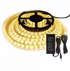 Bande Lumineuse LED,Ruban LED, Blanc Chaud,300LEDs,5M et Transformateur 12V 5A. de la marque LEDMO image 0 produit