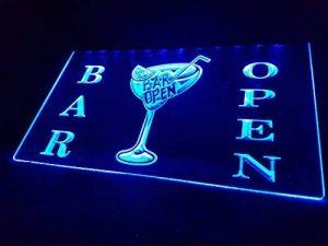 Bar OPEN lumineux Enseigne Panneau neuf LED chargement Publicité Fluo Neon Bar Pub Bar Disco Cocktails de la marque Zhengdian Electronic image 0 produit