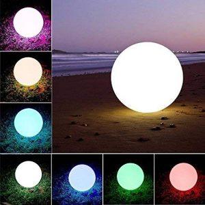 barbieya LED Ball Lumière d'ambiance eonant Globe piscine Floating Light étanche Plusieurs modes couleurs changeantes avec télécommande enfants Veilleuse LED Intérieur Éclairage extérieur (20cm/8) de la marque Barbieya image 0 produit