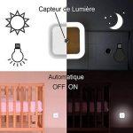 BAYORK LED Veilleuse Lampe de Nuit 0,5W Dusk to Dawn Capteur Automatique Détecteur de Lumière, Idéal pour Chambre Enfant Bébé Chevet (2 Pack) de la marque BAYORK image 4 produit