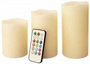 Benross Anika Lot de 3 bougies sans flamme télécommandées LED de couleur changeante de la marque Benross Anika image 0 produit