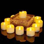 Benvo Lot de 12 Lumières Bougies à LED, Sans Flamme, Réaliste et Bright, Puissance de la Batterie, Fausses Bougies électriques pour Votive, Table Party Anniversaire Mariage(blanc chaud) [Classe énergétique A+] de la marque Benvo image 2 produit