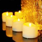 Benvo Lot de 12 Lumières Bougies à LED, Sans Flamme, Réaliste et Bright, Puissance de la Batterie, Fausses Bougies électriques pour Votive, Table Party Anniversaire Mariage(blanc chaud) [Classe énergétique A+] de la marque Benvo image 3 produit