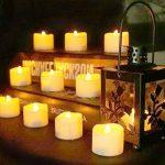 Benvo Lot de 12 Lumières Bougies à LED, Sans Flamme, Réaliste et Bright, Puissance de la Batterie, Fausses Bougies électriques pour Votive, Table Party Anniversaire Mariage(blanc chaud) [Classe énergétique A+] de la marque Benvo image 4 produit