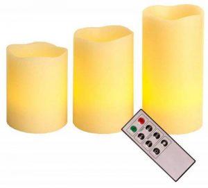 Best Season 066-70 Lot de 3 bougies LED en cire avec télécommande de la marque Best Season image 0 produit