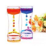BESTONZON 2 Pack Sablier Liquide/Huile Sablier Liquid-sabliers colorés à bulles Timer, Coloré Huile Sablier Desk Decor Cadeau d'anniversaire Jouet pour enfants de la marque BESTONZON image 3 produit