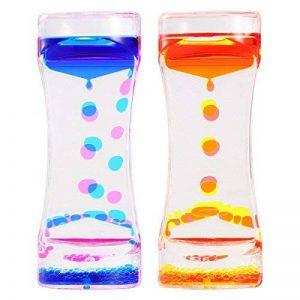 BESTONZON 2 Pack Sablier Liquide/Huile Sablier Liquid-sabliers colorés à bulles Timer, Coloré Huile Sablier Desk Decor Cadeau d'anniversaire Jouet pour enfants de la marque BESTONZON image 0 produit
