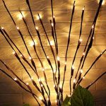 Bloomwin Eclairage spécial, 3pcs 1.2W 20LED 70CM Lumineux de Branche avec Batterie Guirlande lumineuse LED Arbre Décoration de Maison Murale Porte Noël Mariage Blanc Chaud de la marque Bloomwin image 2 produit