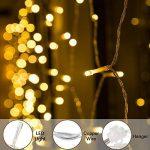 BLOOMWIN Rideau lumineux LED Flocon de neige 2m x 1m 104leds 9.5W Guirlandes Lumineuses 8 Mode Parfait Pour Rideau Fenêtre Décoration de Noël/Mariage/Jardin/Nouvel An Blanc Chaud de la marque Semoon image 2 produit
