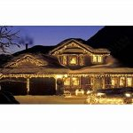 Blue Oceans 216LED 5M Glace Pluie/Stalactite Guirlande lumineuse décoration de Noël lumières de Noël Décoration Fairy Christmas intérieur et extérieur (Blanc chaud–5m) de la marque BUOCEANS image 4 produit