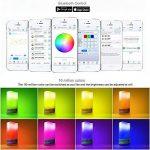 Bluetooth Bougies à LED avec lumière multicolore, Dimmable, Changement de couleur, Bougies Sans Flamme, Lumière de thé de LED pour Anniversaire Mariage Noël Fête - Smartphone contrôlé, à piles de la marque ZXX image 2 produit