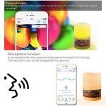 Bluetooth Bougies à LED avec lumière multicolore, Dimmable, Changement de couleur, Bougies Sans Flamme, Lumière de thé de LED pour Anniversaire Mariage Noël Fête - Smartphone contrôlé, à piles de la marque ZXX image 3 produit