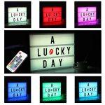 Boîte Enseigne Lumineuse, A4 LED Cinéma Boîte, Lumineuse Light Box avec 120 Lettres Noires et Symboles pour Mariage, Home, Photoshoots, Fête Anniversaire de la marque NXDRS image 1 produit