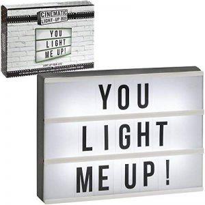 Boîte lumineuse avec lettres à glisser, blanc/noir, Taille unique, na de la marque The Leonardo Collection image 0 produit