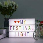Boîte lumineuse cinématique avec 90 lettres et lumière LED, Combinaison libre, format A4 (A4) de la marque HanSemay image 1 produit