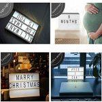 Boîte lumineuse cinématique avec 90 lettres et lumière LED, Combinaison libre, format A4 (A4) de la marque HanSemay image 4 produit