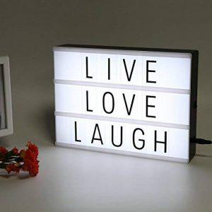 Boîte à lumière LED bricolage lettres, LitEnergy Cinéma boîte A4 avec 90 lettres noires et symboles de la marque LitEnergy image 0 produit