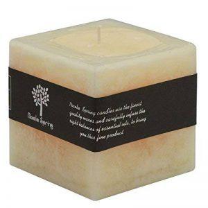 Bougie carrée à une mèche - senteur vanille - 100 x 100 x 100 mm brûle pendant 120 h de la marque Nicola Spring image 0 produit