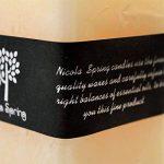 Bougie carrée à une mèche - senteur vanille - 200 x 75 x 75 mm brûle pendant 110 h de la marque Nicola Spring image 3 produit