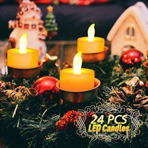 Bougie à LED , Ubegood Lot de 24 Lumières Bougies à LED Fausses Bougies électriques LED Flamme pour Mariage Fête Anniversaire Cadeau Soirée, Maison de la marque UBEGOOD image 0 produit
