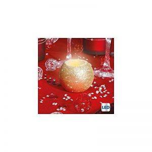Bougie lumineuse ronde pailletée à LED - Dorée de la marque AC-Déco image 0 produit
