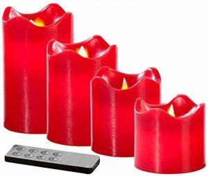bougie rouge led TOP 4 image 0 produit