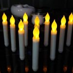 Bougies à LED, Cuitan Ensemble de 12 Bougies sans Flammes Longue Bougies de Chandelier Puissance de la AA Batterie Bougies Jaune LED Candle Lights de la marque Cuitan image 2 produit