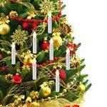 Bougies de Noël Flambeau sans flamme RGB LED Bougie de contrôle à distance avec clip détachable pour Hallowmas Mariage romantique Xmas Home Bar (piles non incluses) (Pack de 10) de la marque ALLOMN image 1 produit