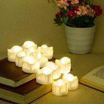 Bougies LED avec minuterie, PChero Lot de 12 bougies LED Piles pchero, 6 heures on et 18 heures Off de la marque PChero image 4 produit