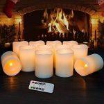 Bougies à LED Bougies à piles Bougies sans flamme Bougies électroniques 12pack (D: 7.6cm XH: 10.2cm) Bougies de pilier en cire ivoire avec télécommande et minuterie Maison Fête d'anniversaire decoration mariage de la marque Hausware image 1 produit