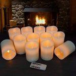 Bougies à LED Bougies à piles Bougies sans flamme Bougies électroniques 12pack (D: 7.6cm XH: 10.2cm) Bougies de pilier en cire ivoire avec télécommande et minuterie Maison Fête d'anniversaire decoration mariage de la marque Hausware image 2 produit