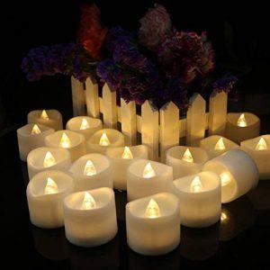 Bougies LED chauffe-plats, flamme vacillante sans flamme Bougies, réaliste à piles Faux Bougie avec Blanc chaud ampoule lumière blanc chaud de la marque chenyu image 0 produit