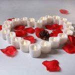 Bougies LED chauffe-plats, flamme vacillante sans flamme Bougies, réaliste à piles Faux Bougie avec Blanc chaud ampoule lumière blanc chaud de la marque chenyu image 1 produit