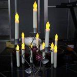 Bougies à LED, Cuitan Ensemble de 12 Bougies sans Flammes Longue Bougies de Chandelier Puissance de la AA Batterie Bougies Jaune LED Candle Lights de la marque Cuitan image 3 produit