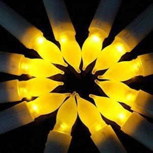 Bougies à LED, Cuitan Ensemble de 12 Bougies sans Flammes Longue Bougies de Chandelier Puissance de la AA Batterie Bougies Jaune LED Candle Lights de la marque Cuitan image 0 produit