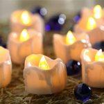 Bougies à LED Lot DE 12 Lumières de Thé à Piles sans Flammes avec des Larmes lumieux Clignotants - Bougies à Piles-Lampes à Bougie de la marque Little ants image 1 produit
