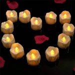 Bougies à LED Lot DE 12 Lumières de Thé à Piles sans Flammes avec des Larmes lumieux Clignotants - Bougies à Piles-Lampes à Bougie de la marque Little ants image 2 produit