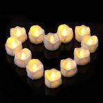 Bougies à LED Lot DE 12 Lumières de Thé à Piles sans Flammes avec des Larmes lumieux Clignotants - Bougies à Piles-Lampes à Bougie de la marque Little ants image 3 produit